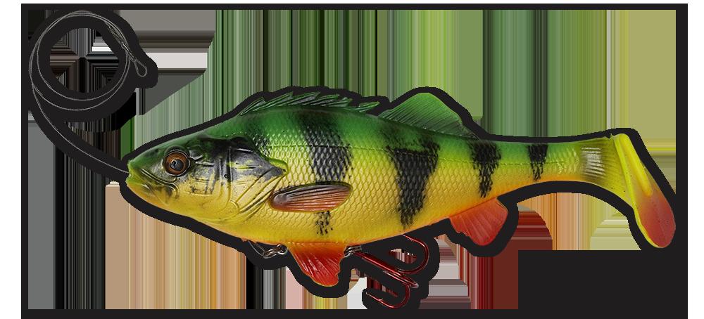 Savage Gear 4D Perch Shad 12,5 cm 17,5 cm 20 cm Swimbait Gummifisch Hechtköder