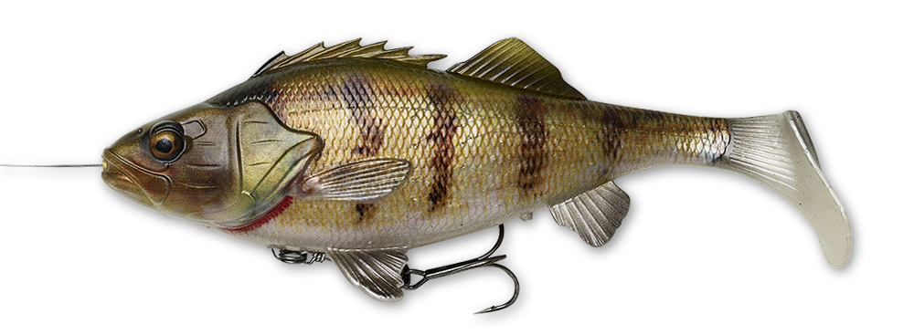 Savage Gear 4D Line Thru Perch Shad 20cm 100g Slow sinking Soft bait COLOURS